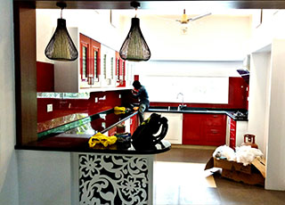 Kitchen Glass Wall Kerala